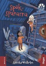 Spökspanarna bok bokomslag barnbok blått omslag