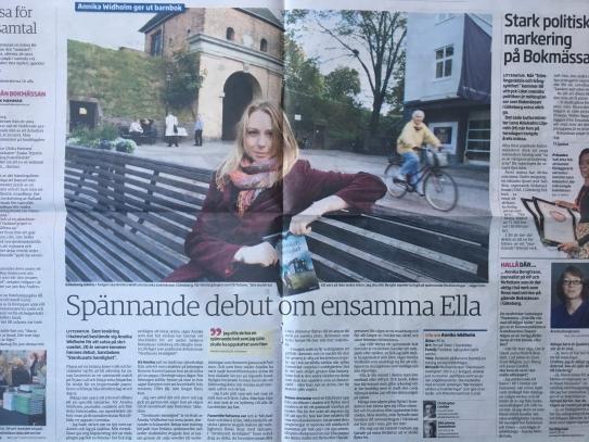 Intervju om Stenhusets hemlighet i Hallandsposten Annika Widholm