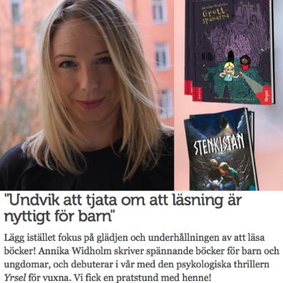 Familjeliv läsning Annika Widholm
