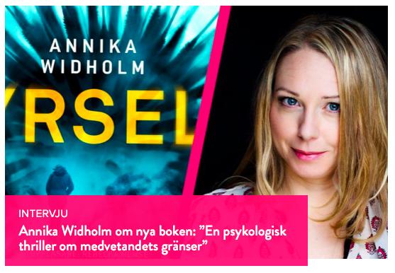 Annika Widholm intervju i SelmaStories om nya boken Yrsel