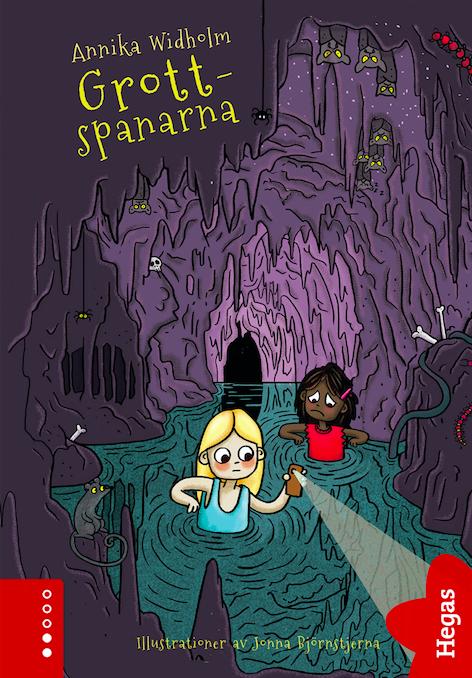 Grottspanarna bokomslag grotta författare Annika Widholm illustratör Jonna björnstjerna barnbok
