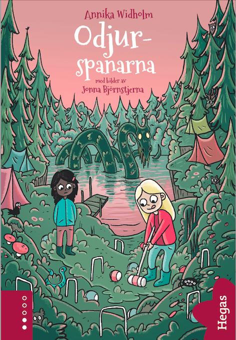 Odjurspanarna rosa barnbok bokomslag författare Annika Widholm illustratör Jonna Björnstjerna