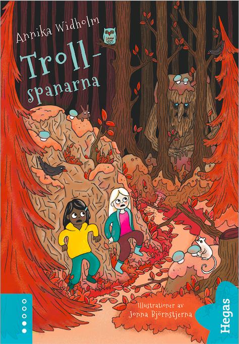 Trollspanarna bokomslag lättläst barnbok troll skog Annika Widholm Jonna Björnstjerna