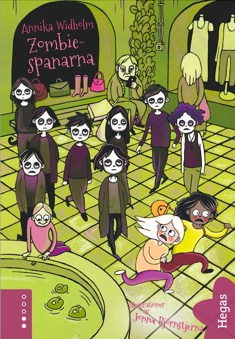 Zombiespanarna bokomslag galleria zombier författare Annika Widholm illustratör Jonna björnstjerna
